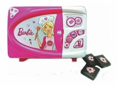 Microondas  barbie 27x15 cm original c/accesorios Miniplay
