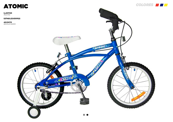 Bicicleta rod 14 Atomic Strark art 6017