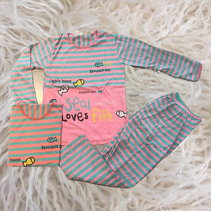 Copia de Pijama importado mujer/juvenil Peces Athand