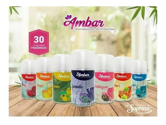 Repuesto aromatizador 280cc Ambar by Saphirus varias fragancias