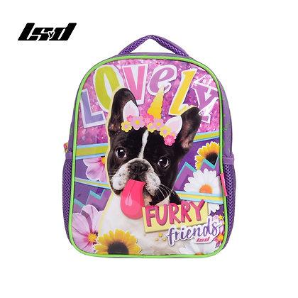 "Mochila infantil 12"" 31x25x11cm Furry Friends LSYD art 91.17340"