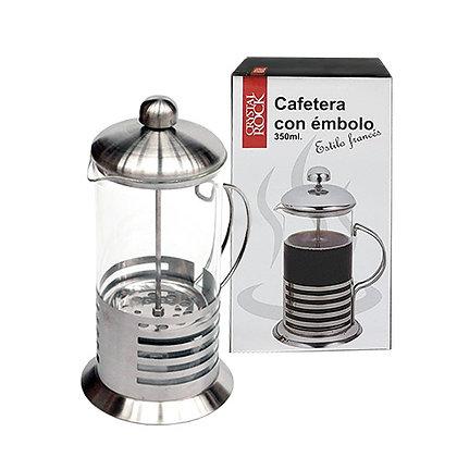cafetera con embolo 350 ml cristal rock