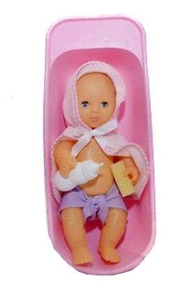 Bebe 30cm recien nacido con bañera y salida de baño Yoly-Bell art 164