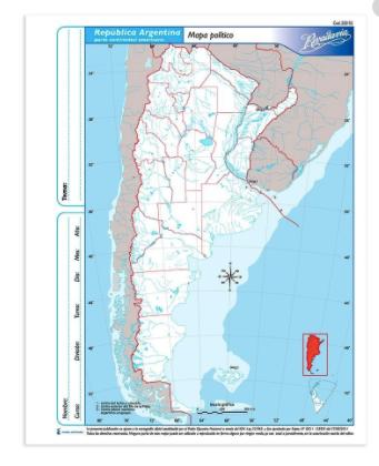 Mapa politico Argentina n3 Alfa Gloss