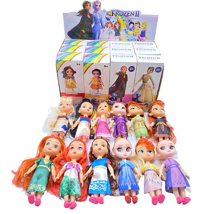 Combo 12 babies muñecas frozen+princesas 10cm en caja individual TR JU-4087