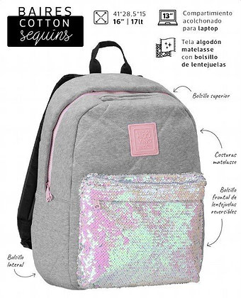 Mochila Cotton sequins Mooving