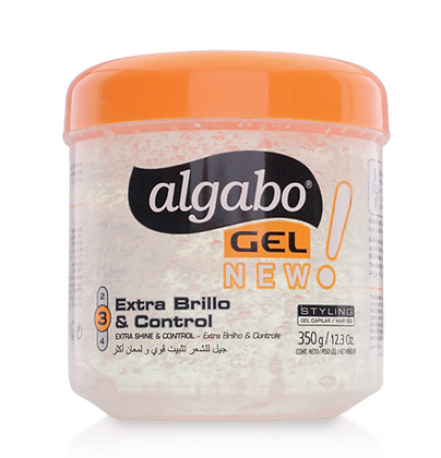 Gel capilar en pote 350g Algabo extra brillo art 6090073