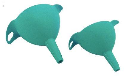 Set 2 embudos plasticos 11 y 8cm Carol linea soft