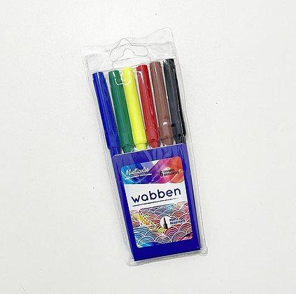 Marcadores escolares x 6 Wabben art 9050
