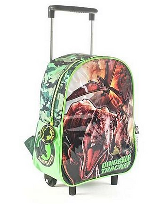 "Mochila Jurassic World  c/carro 12"" original Wabro art 84031"