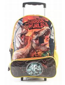 """Mochila Jurassic World con carro 16"""" original Wabro art 84039"""