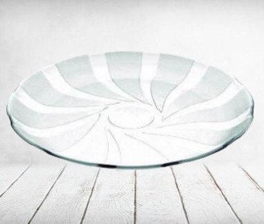 6 platos playos vidrio 22cm Cosmos Durax