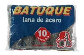 Rollitos de lana de acero x 10 Batuque