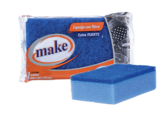 Esponja azul extra fuerte antibacterial Make