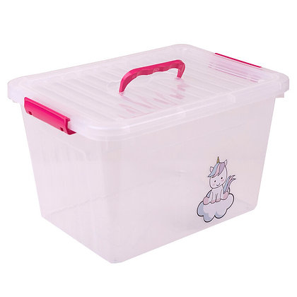 Caja organizadora unicornio con traba y manija 6 litros 23x19x15cm Cerri
