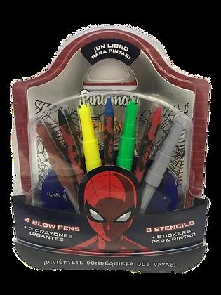 Libro / pintar + crayones gigantes + marcadores gigantes Spider Vertice art 4226