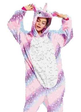 Pijama adulto Kigurumi unicornio estrellitas en la panza
