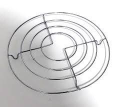 Posa pava/fuente 20cm alambre cromado importado TR