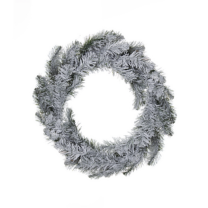 Corona de puerta 50x15cm nevada Naviluz