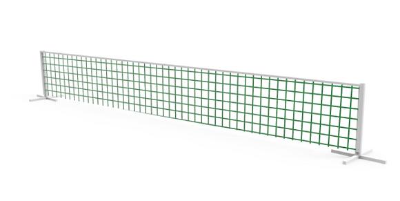 Juego de futbol-tenis red de 3mt x 80cm caño epoxi blanco