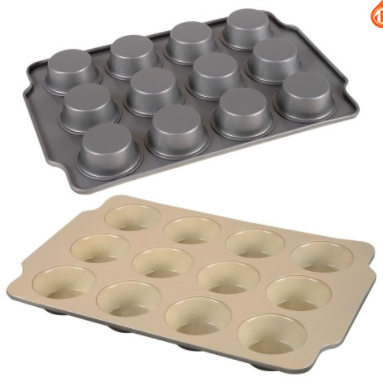 Molde muffins ceramica antiadherente 38x26x3cm d'saza art 3294200