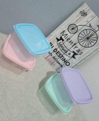 Hermetico cuadrado 500cc tapa pastel Tay plast