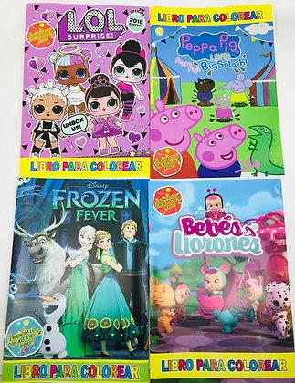 Set de 4 libritos para pintar modelos de nena oferta Javi
