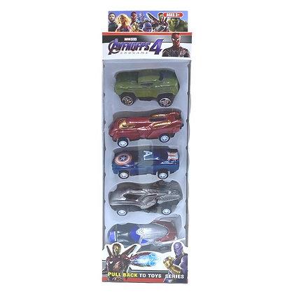 Set de 5 autitos Avengers 4 TR JU-1709