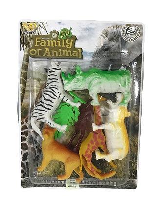 Animales de la selva c/muñeco 25x18cm blister Athand art 66111