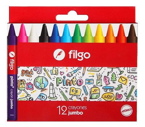 Crayones jumbo  Filgo x12