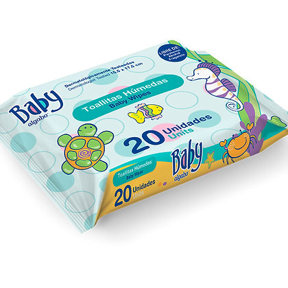Baby toallitas wipes x20 Algabo 3362001
