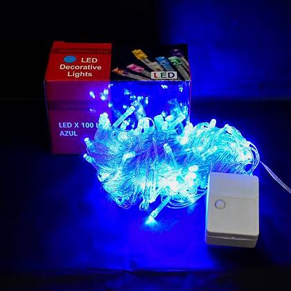 Luz x 100 led multifuncion azul