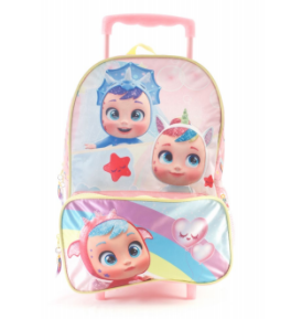 "Mochila Cry Babies c/carro 15"" original Wabro art 98316"