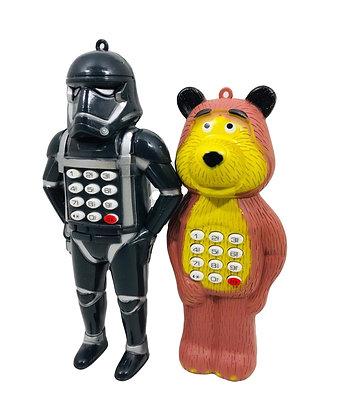 Celular a pila forma de oso o de Star Wars Athand