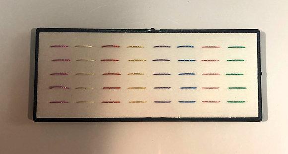 Aros piercing de nariz x 40 unidades en acrilico Boaz art 1258