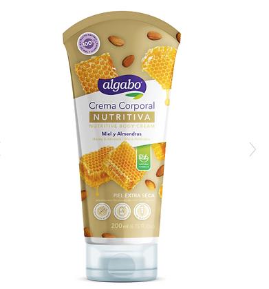 Crema corporal Nutritiva miel y almendras Algabo art 6060508
