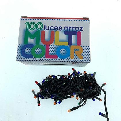 Luz x 100 arroz multicolor cable normalizado Soifer