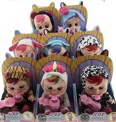 Muñeca simil cry babies con sonido 25 cm