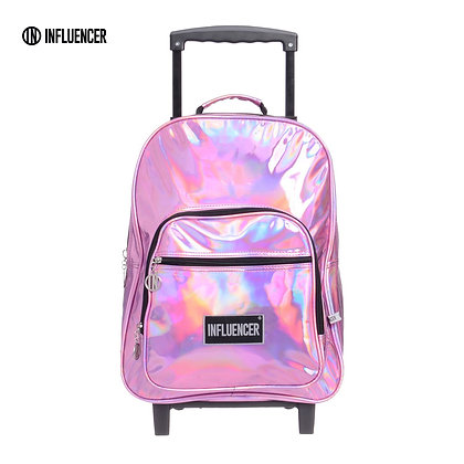 "Mochila con carro 17"" LSYD Influencer Tornasoladas  art 94.9800"