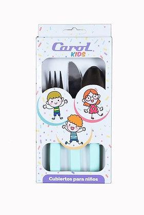 Cubiertos niños acero Carol x 3 linea Soft art 360