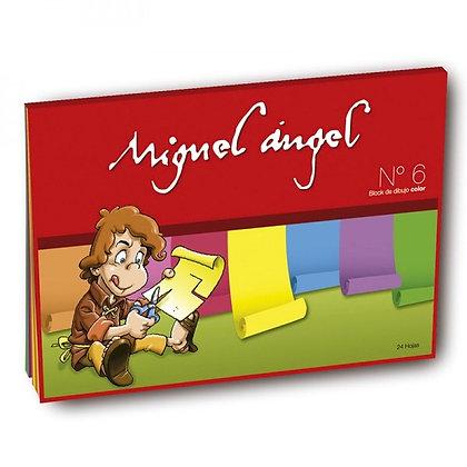 Block de dibujo N*6 color x 24 hojas Miguel Ángel