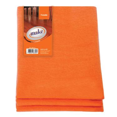 Franela naranja 40x50cm Make