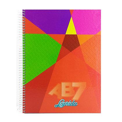 Cuaderno Laprida anillado AB7  60hojas 21x27cm cuadriculado