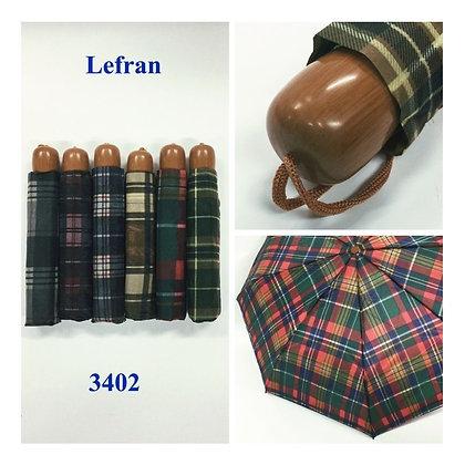 Paraguas corto escocés con funda TR 2800