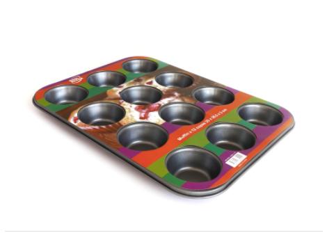 Molde Muffin x 12 teflon antiadherente 35,5x26,5x3cm Cool Bazar