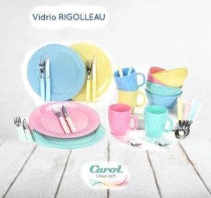 Juego de 28 piezas vidrio color Soft  Carol art 4035