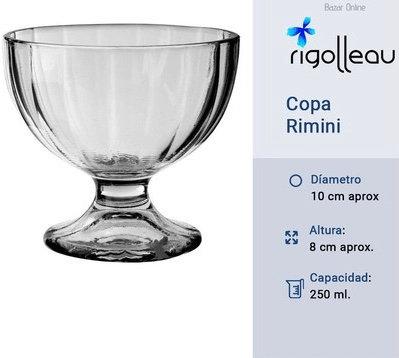 Copa de postre vidrio Remini 250ml Rigolleau