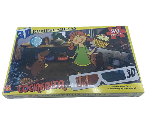 Rompecabezas Cocinerita 3D 80 piezas Magika