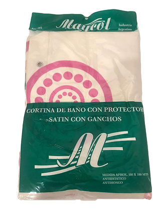 Cortina doble satin c/ganchos Maycol art 01