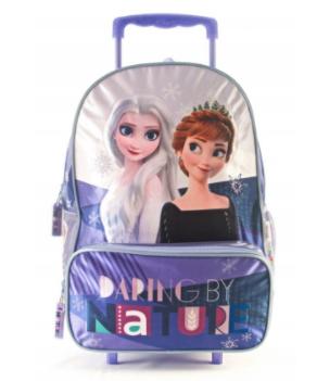 """Mochila Frozen con carro 16"""" original Wabro art7501"""